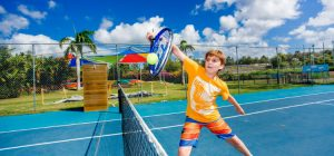 Tennis court at the gold coast holiday park