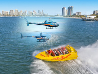 Jet boat rides at the Gold Coast