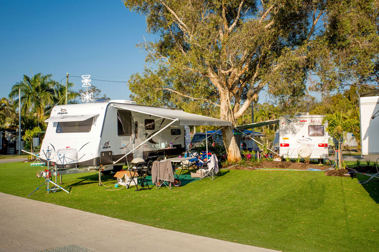 Gold Coast Camping - Premier Evergreen sites in the Gold Coast Holiday Park