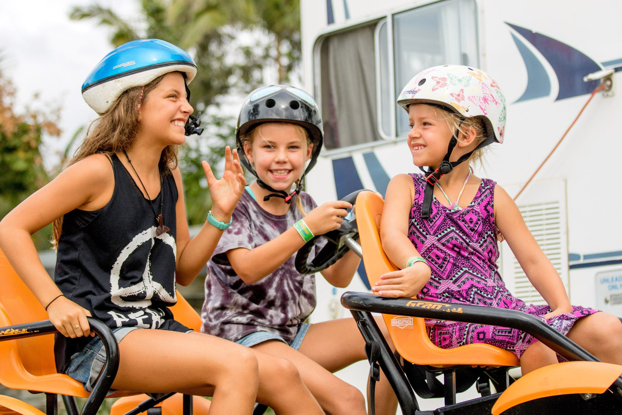 The Gold Coast Holiday Park fun for the kids - Pedal Bikes and BMX track